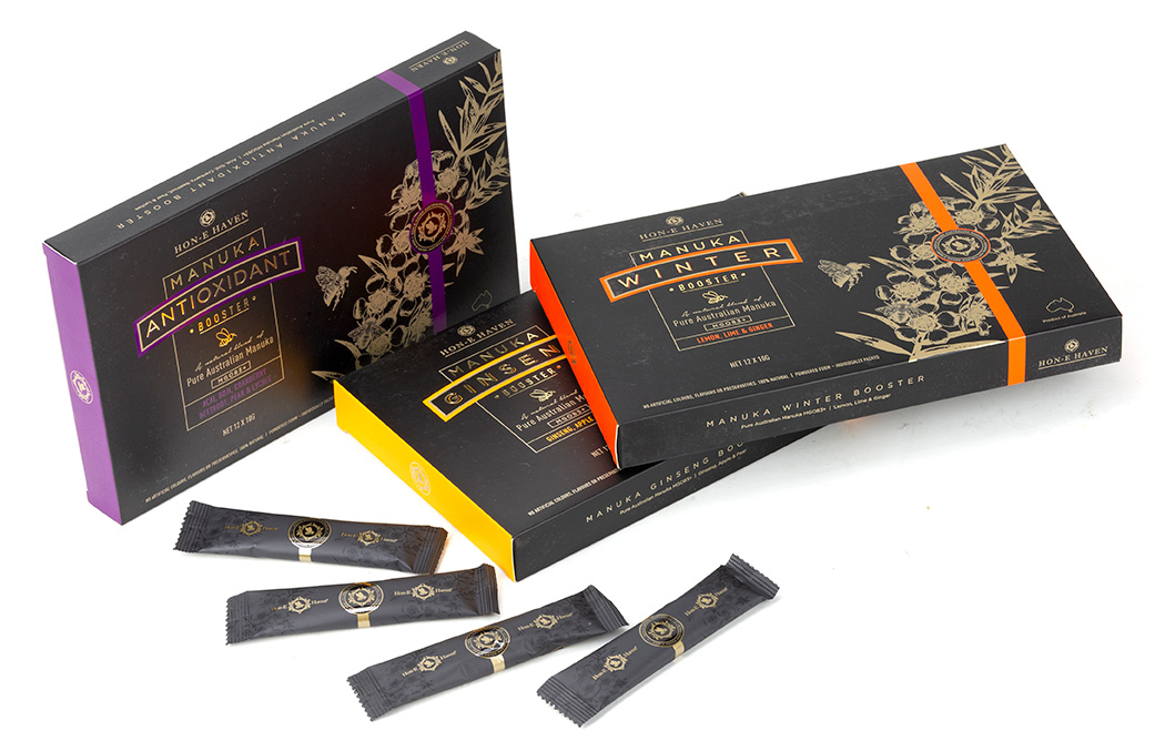Hon e Haven Manuka Honey Box Packaging